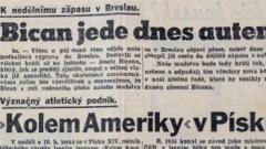 Sport a České Slovo, 1939